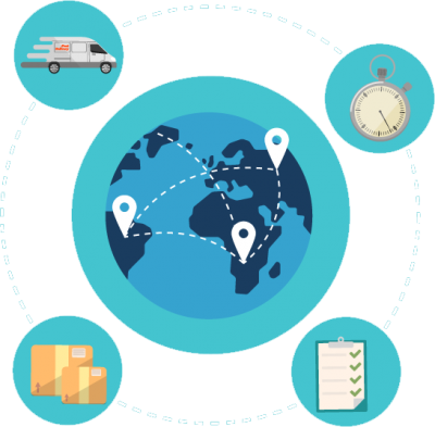 Worldwide-delivery